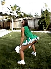 cute cheerleader with big booty