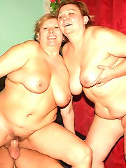 Cock starved mature women Anna and Yolanda show off their greed for cocks in a threesome