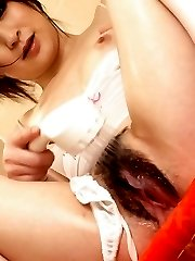 Asuka Mimi Asian showers hairy nude cunt and titties over top