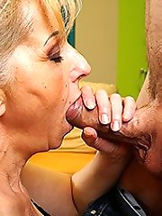 Hairy housewife moaning while she gets fucked hard