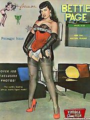 Betty Page moving sensual