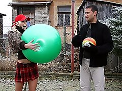 Teen trades a ball for lovemaking