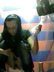 Cute teenage girl takes a leak on spy cam