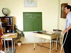 Horny teacher nails student