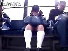 schoolgirl lured leg pulverized by geek on bus