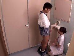 Miku Shirosaki, Rina Serino, Airi Minami in Hanjob Helping Nurse Trio part Two