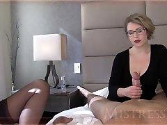 Mistress T jerks a man sausage