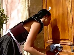 Obedient  maid is punished by  cruel domina