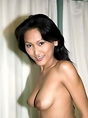 Breathless asian babe stripping her white dress and showing her sexy ass