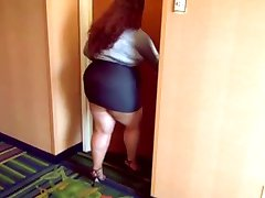 Bbw sexy legs good walk in high heels