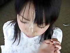 Japanese teens facial compilation