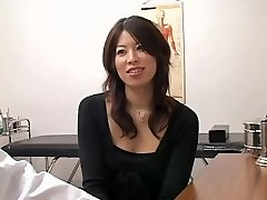 Adorable Jap wench crammed doggystyle during a medical exam