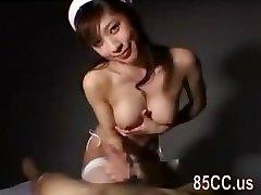 big tits nurse gives astonishing oral sex