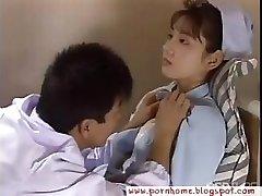 Oriental Nurse drilled by doctor