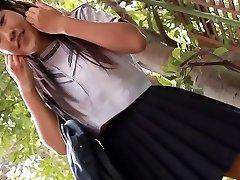 softcore oriental schoolgirl upskirt panty tease