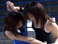 Chinese Babes Grappling