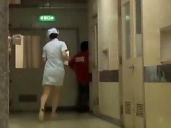 Naughty Asian bottom sharking for the clinic nurse