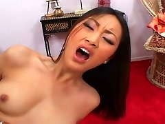 Stunning Asian beauty pounded
