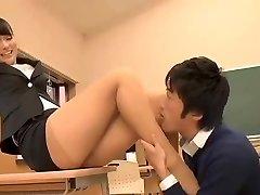 Schöne Japanische Lehrerin