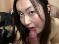 Subtitled Japanese gravure model hopeful POV sucky-sucky in HD