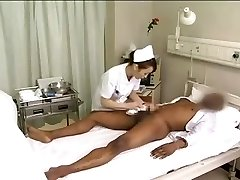 Asian nurses drain black penis