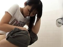 Asian hos urinate and wipe