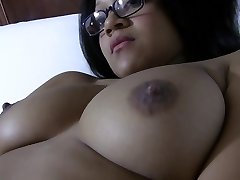 Busty Asian nymph lets you watch her jack