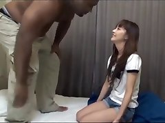 Japanese girl is bred successfully by big black cock