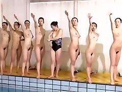 Excellent swimming team looks excellent sans clothes