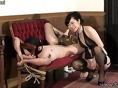 Japanese Femdom Prostate Massage Roped Slave