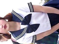 J-cosplay meitene vidusskola valkāt ups 1