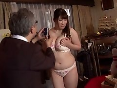 Horny Japanese whore Chitose Saegusa in Naughty public, striptease JAV video