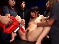 Asian slut gets her cunt stimulated till she dumps