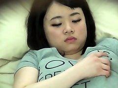 Chubby asiatiske spionert på