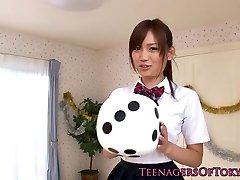 Cute asian schoolgirls rectal creampie action