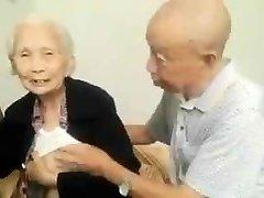 Azijske Starejši Par