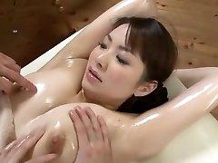 Sumptuous Japanese model Yuna Aino in Horny Threesome, Rubdown JAV scene