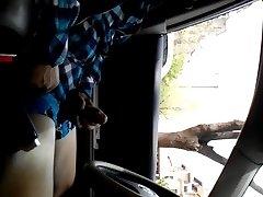 dick flash in truck Beijing 201504012A