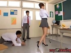 Kaori Sizzling Japanese teacher getting