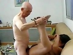 Asian Granny Neighbour Gets Boned by Asian Grandpa