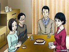 Hentai girl fellates and gets ate
