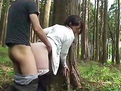 Milf sex in forest