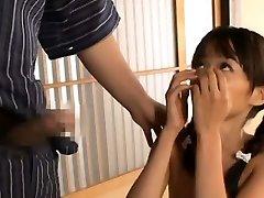 Asuka Hoshino deepthroats shlong and nut sack
