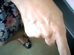 asian female doctor checks (hidden web cam)