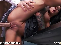 Exceptionally SUPER-STEAMY teacher's assistant Crista Moore fucks her prof