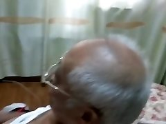 chinese grandpa masturbating off