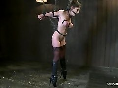 Felony Roped in Cruel Latex, Metal and Leather Bondage!