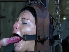 Slave slut caned before hardcore restrain