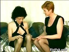 Horny old sluts finger-tickling and fisting part6
