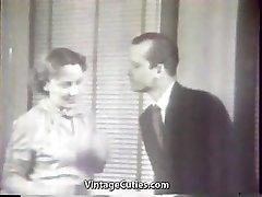 Ultra-kinky Secretary gets into Xxx Foursome (Vintage)